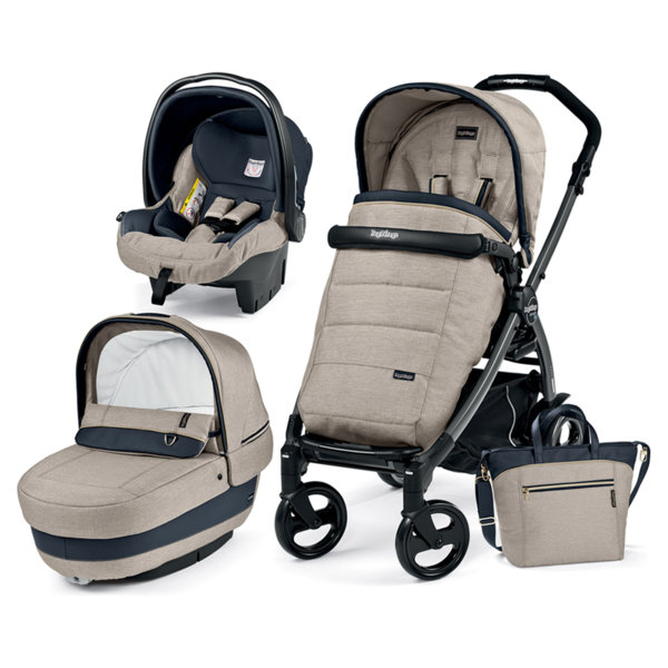 Peg Perego Book Plus Modular Elite Luxe бежово + седалка Pop Up Completo + Шаси Book 51S джет
